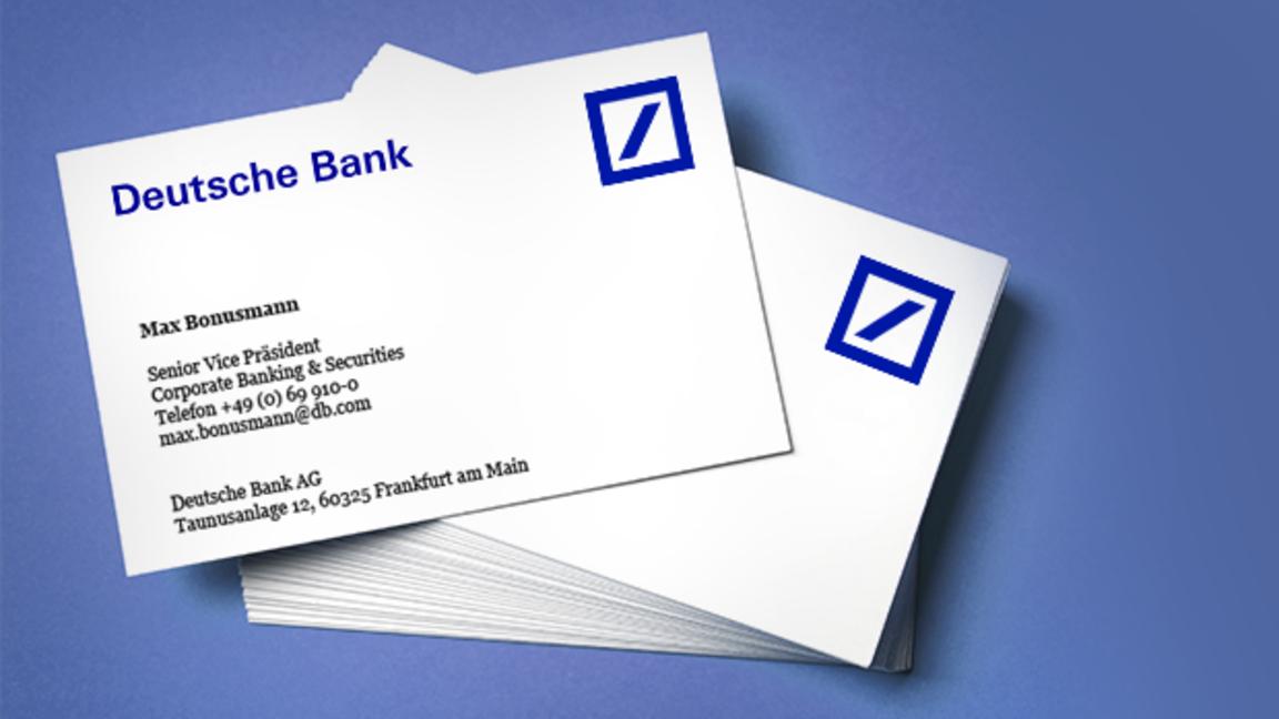 Deutsche Bank Kürzt Boni Diese Visitenkarten Sind Jetzt