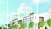 huGO-BildID: 23082550 An artist's impression of the planned Olympic Village which will accommadate athletes should London win the bid to host the Summer Olympic Games in 2012. The IOC announced Wednesday 06 July 2005 that London will host the 2012 Olympic Games EPA/HO +++(c) dpa - Bildfunk+++ picture-alliance