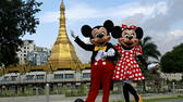 Mickey Mouse und Minnie Mouse, Suu Lay pagoda dpa