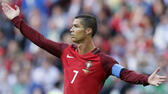 Portugal's Cristiano Ronaldo calls for referee's attention during the Confederations Cup, Group A soccer match between Portugal and Mexico, at the Kazan Arena, Russia, Sunday, June 18, 2017. (AP Photo/Thanassis Stavrakis) AP