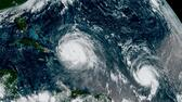 Hurrikan Irma (links) und Hurrikan Jose im September 2017. AP